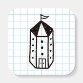 涂鸦的房子 — 图库矢量图片