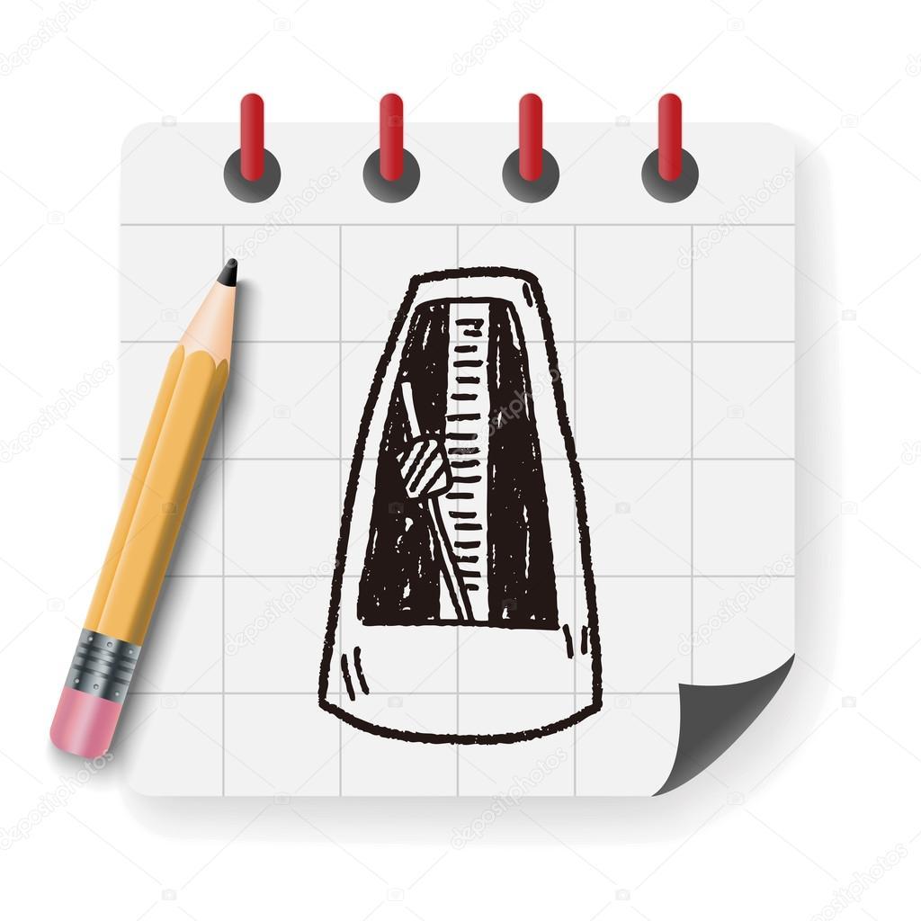 矢量插图,手绘图涂鸦卡通– 图库插图