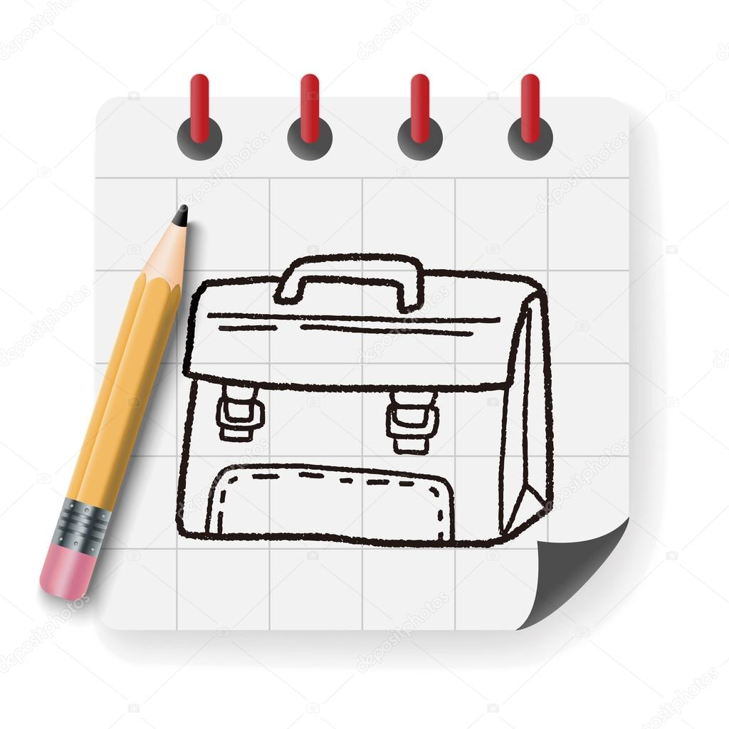 School bag diagram - Doodle School Bag Vector Illustration Stock Illustration