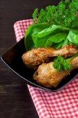 Cosce di pollo al forno — Foto Stock