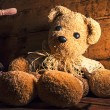 Old tender teddy bear nostalgia — Stock Photo #74866389