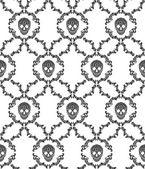 Skull ornamental seamless pattern. Vector illustration — Stock Vector