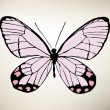Big collection of colorful butterflies. Vector — Vector de stock  #76560727