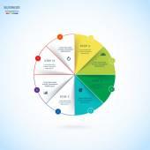 Vector circle infographic — Stock Vector