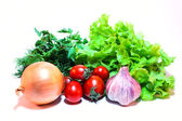 Vegetable mix on a white background — Stock Photo