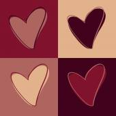 Set of hearts — Vecteur