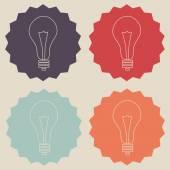 Set di icone lampadina — Vettoriale Stock