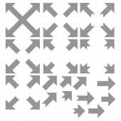 Arrow set collection — ストックベクタ