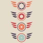 シャッターのロゴを設定 — ストックベクタ