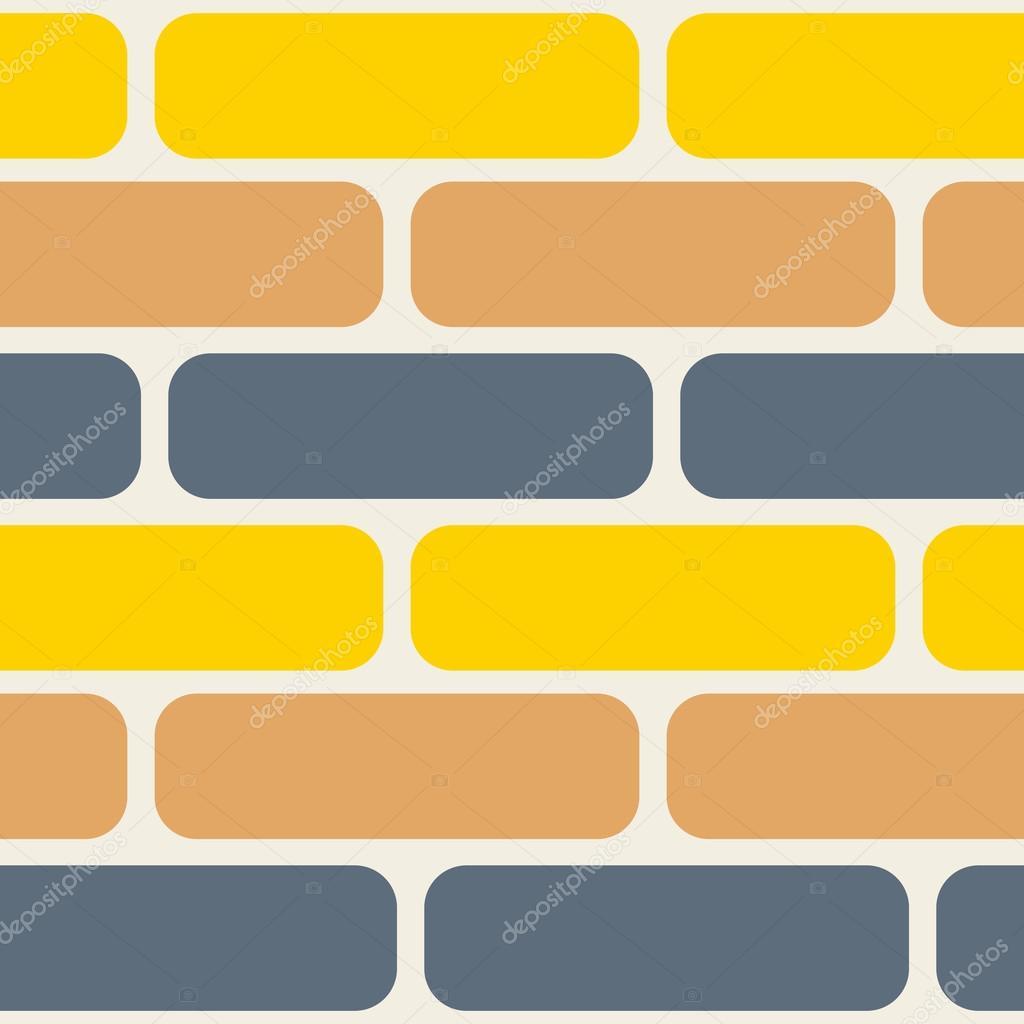 Patr n sin fisuras de ladrillos de color vector de stock - Ladrillos de colores ...