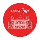 Vienna state opera house vector icon — Stock Vector