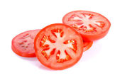 Slice tomato isolated on the white background — Stock Photo