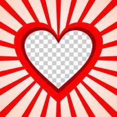 Valentine's Day background frame — Stock Vector