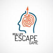 Real life escape quest logo — Stock Vector
