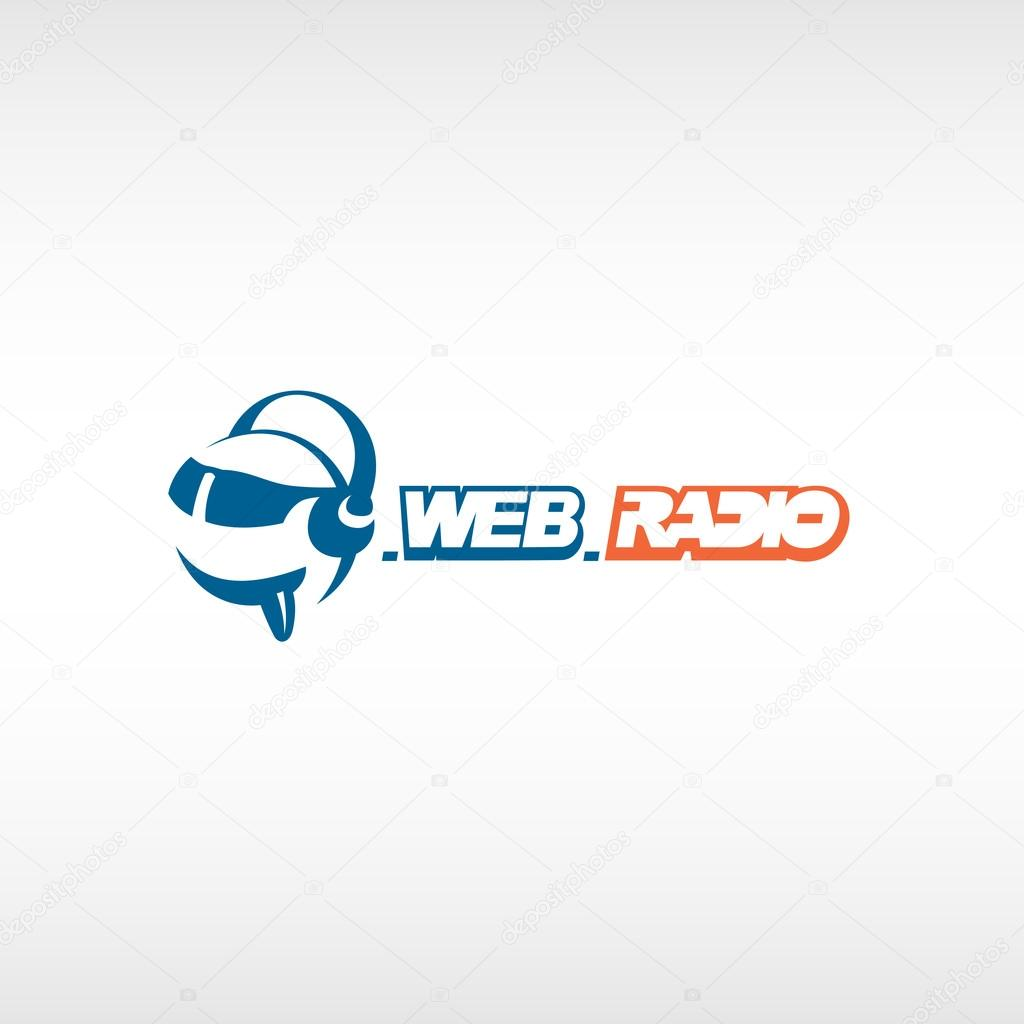 internet radio logo template stock vector kilroy 65685647. Black Bedroom Furniture Sets. Home Design Ideas