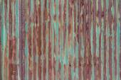 External rusty corrugated iron wall of a building — Stock Photo