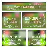 Summertime Vector background, Decorative frame set — Stock Vector