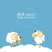 Page not found, 404 error. — Stock Vector