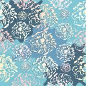 Şirin soyut çiçek seamless modeli — Stok Vektör