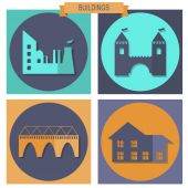 Building Icons Set — Stock Vector