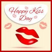Beijo feliz dia — Vetor de Stock