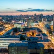 The evening rooftop view to the Kyiv city — Stock Photo #78795528