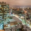 Business-center at snowy Kyiv city — Stock Photo #78795762