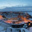 View of the historic city of Vyborg from St. Olav tower. Russia — Stock Photo #65552271