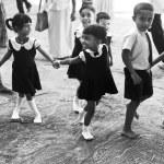 School kids dancing in roundelay — Stock Photo #65303727