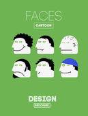 Set of cartoon emotions faces — Stockvector