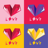 Valentine's day cards set — Stock Vector