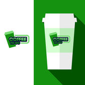 Design Coffee Cup Logo — Stockvektor