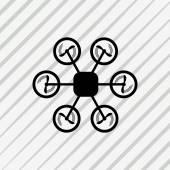 Drone or Quadrocopter icon — Stock Vector