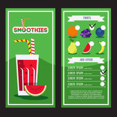 Fresh Smoothie menu — Stock Vector