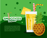 Pineapple fresh Smoothie menu — Vecteur