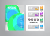 Business flyer template with infographic — Stock Vector