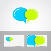 Speech bubble logo — Stockvector