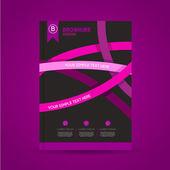 Brochure design template for business — Vettoriale Stock