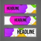 Banner design template for web or print — Stock Vector