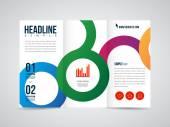Brochure flyer design — Stock Vector