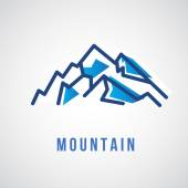 Mountain-Logo, Reise-Symbol — Stockvektor