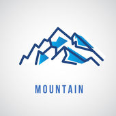 Mountain logo, travel icon — Stock Vector