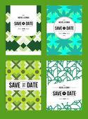 Invitations cards templates set — Vettoriale Stock