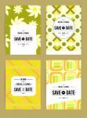 Invitations cards templates set — Vector de stock