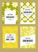 Invitations cards templates set — 图库矢量图片