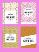 Invitation cards templates set — Stock Vector