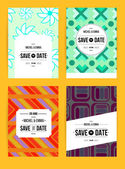 Invite template set — Stock Vector