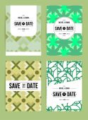 Invitations cards templates set — Stock Vector
