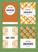 Invitations cards templates set — Vetor de Stock