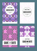 Invitations cards templates set — Stockvektor